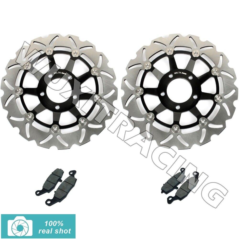 New Front Brake Discs Disks Rotors Pads for Suzuki GSF 600 S / Bandit 00-04 K1 K2 K3 K4 SV-S 650 SV650S 99-02 01 GSX 750 F 98-02