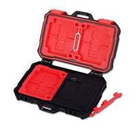 Mini Draagbare USB 3.0 Geheugenkaartlezer Case Houder voor CF TF Sd-kaart Opbergdoos Protector Houden 19 stks Geheugenkaart Gevallen zwart