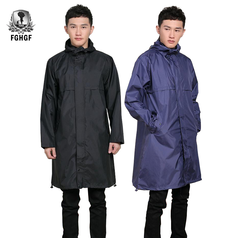 FGHGF Fashion Raincoat Men's Long Raincoat Raincoat Men's Poncho Jacket Cape Cloakroom Raincoat Outdoor Travel Camping