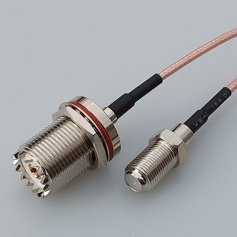 Coaxial RF cable F Female Jack Connector Switch UHF Female Jack nut SO239 pigtail cable RG316 15CM 6 Adapter UHF Cable high quality 10 pcs x bnc female nut bulkhead solder rf connector adapters