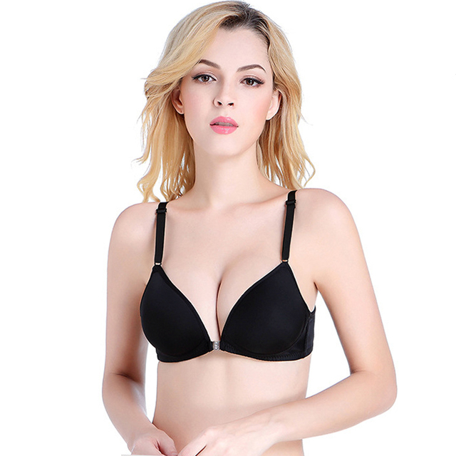 e0e78a721c New Front Buckle Bras Women Sexy Bra Strapless Cleavage Backless Bra lady  Luxury Underwear Adjustable Wireless Push Up Brassiere