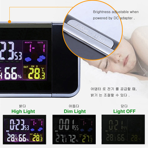 Image 4 - Digital Temperature Thermometer Wireless Weather Station Humidity Meter Hygrometer Table Desk Projection Alarm Clock Projector