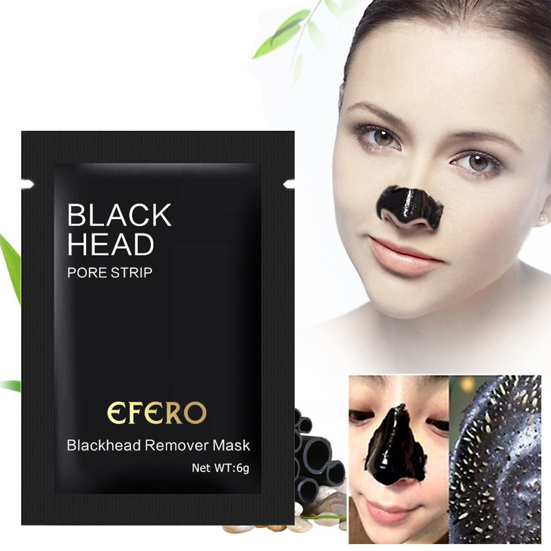 Nose Strips Black Mask Black Dots Blackhead Remover Face Care Face Mask Black Head Nose Mask Pore Strip Peel Off Mask Skin EFERO in Treatments Masks from Beauty Health