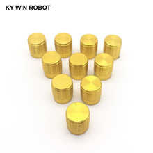 10pcs 15*17mm aluminum alloy potentiometer 15*17 knob rotation switch volume control gold