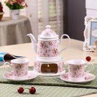 Té perfumado té de cerámica calentador inglés transparente flor y fruta tetera fruta