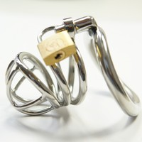 cock cage 3 size cock ring Stainless steel male chastity device,Most comfortable penis ring,Wear long term male chastity belt