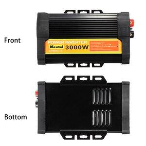 Image 3 - 3000W Nguồn Điện 12 V Sang AC 220 V Màn Hình Kỹ Thuật Số LCD Max 6000 W Sóng Hình Sin Xe Sạc bộ Chuyển Đổi Biến Hình 2 USB