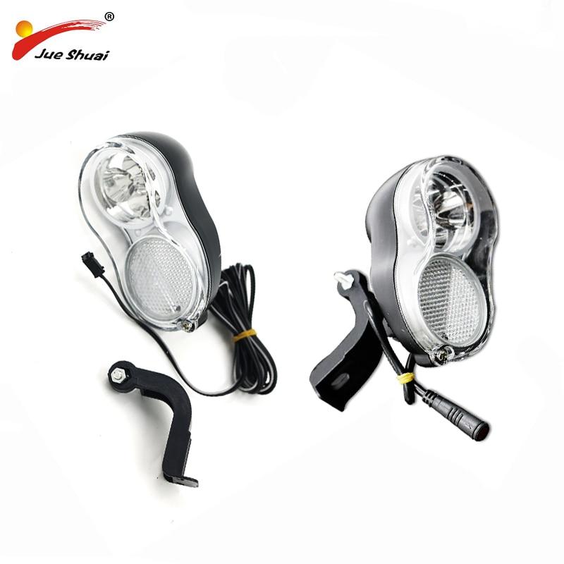 Elektrische Fahrrad Vorder Licht 36 v Ebike LED Kopf Lichter 200 cm Draht Kopf lampe Helle Zwei Stecker Optional Modell JS-118B