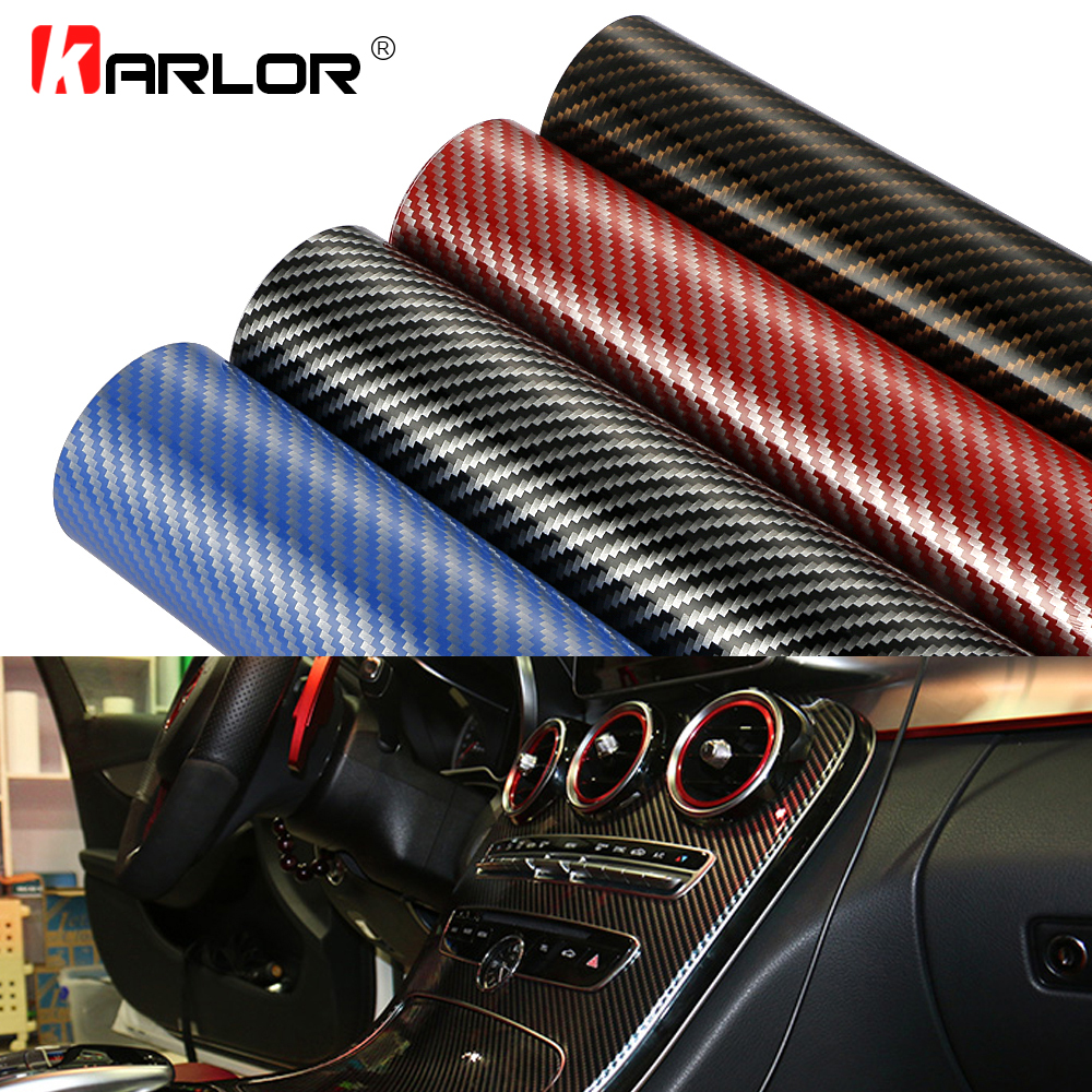 цена на 30cmx100cm High Glossy 2D Carbon Fiber Vinyl Wrap Film DIY Auto Car Motorcycle Decorative Wrapping Sticker Car Accessories