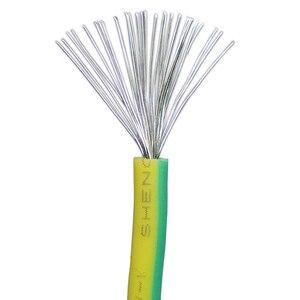 Image 5 - 10 メートルシリコン線アース線ソフト高温 UL3135 16/18/20AWG 黄色緑の 2 色錫メッキ銅ケーブル