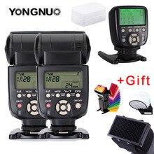 2 قطعة YN560 III فلاش سبيدليت ضوء مع YN560TX II LCD اللاسلكية دليل فلاش تحكم للكاميرا كانون نيكون