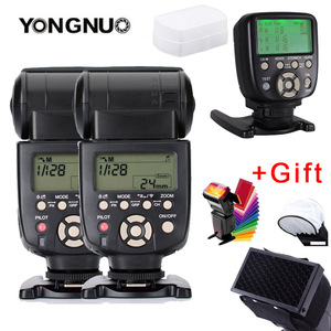 Image 1 - 2 個 YN560 III フラッシュスピードライト光 YN560TX II 液晶ワイヤレス手動フラッシュキヤノンニコンカメラ