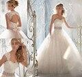 2016 Nova Frete Grátis Beading Uma linha de Vestido de noiva querida Destacável Lace Jacket Branco/Marfim Vestidos de Casamento OW 07788