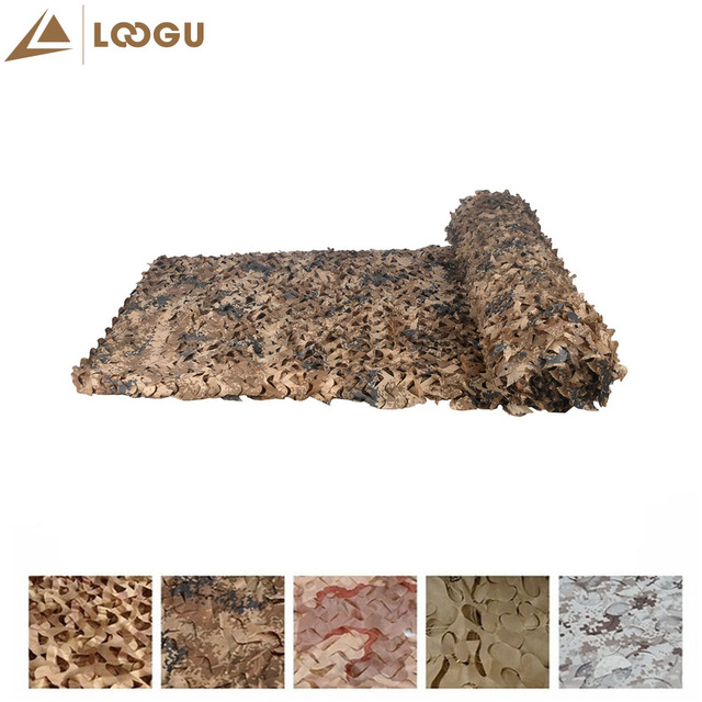 LOOGU E 1.5mx10m Car Covering Tent Woodland Military Camouflage Hunting Netting Without Edge Binding And Mesh Net Sun Shelter