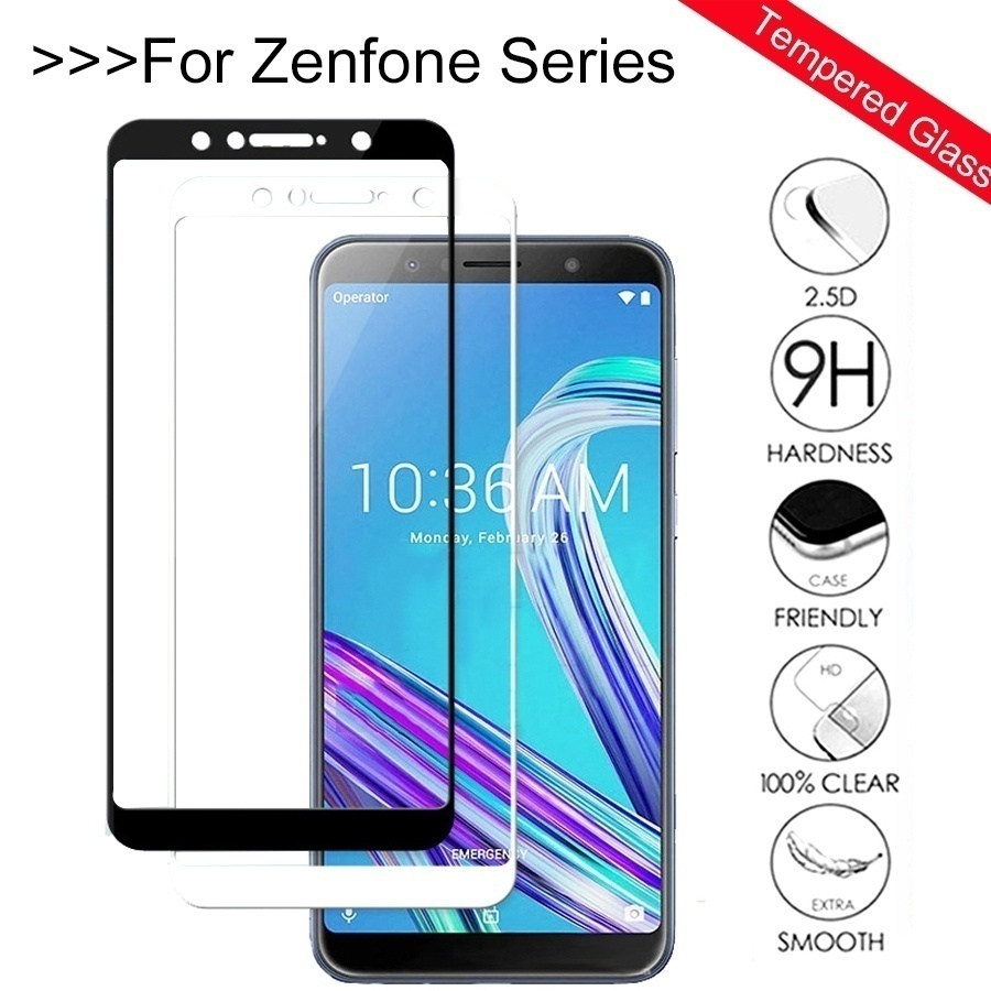 Tempered Glass For ASUS Zenfone Max Pro M1 ZB602KL ZB555KL 5 5Z Live L1 ZA550KL ZE620KL ZS620KL Full Cover Screen Protector FilmTempered Glass For ASUS Zenfone Max Pro M1 ZB602KL ZB555KL 5 5Z Live L1 ZA550KL ZE620KL ZS620KL Full Cover Screen Protector Film