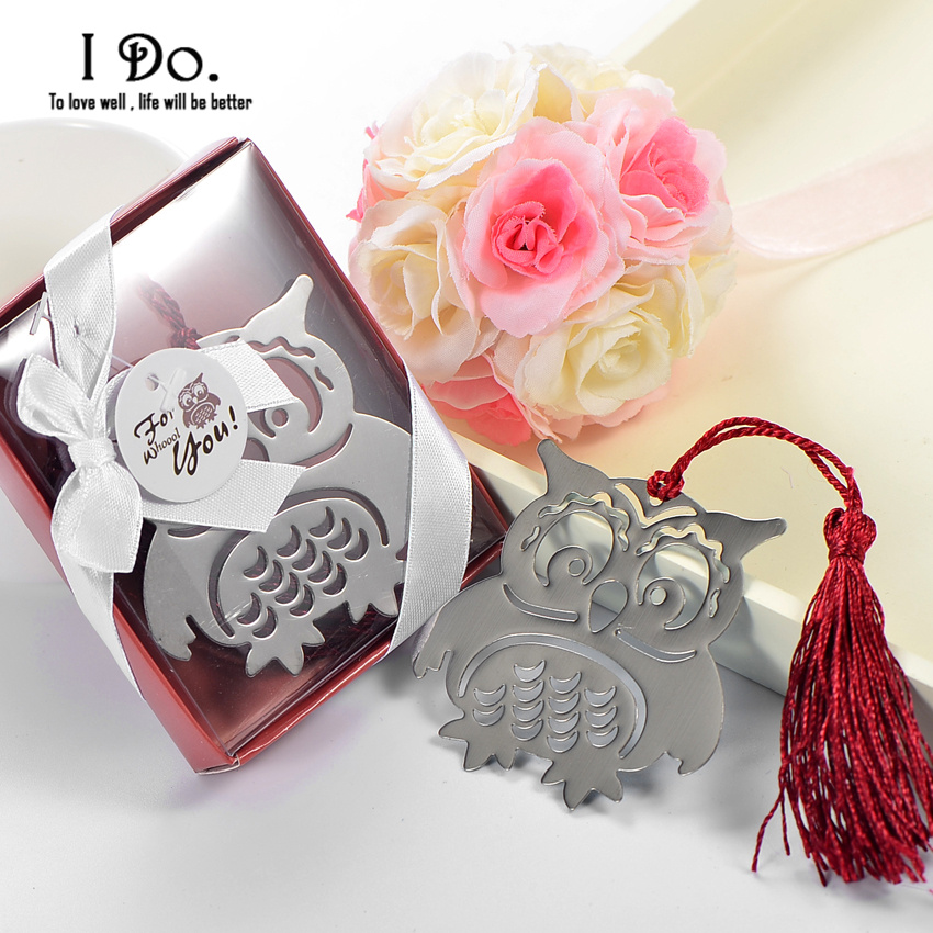 Aliexpress Buy Free Shipping Owl Bookmark Wedding Favors And Gifts Wedding Supplies