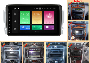 Image 2 - Octa Core Android 10.0 Auto Dvd Gps Speler Voor Mercedes Benz W209 W203 M/Ml W163 Viano W639 Vito raido Stereo Bt 4 + 32Gb Wifi Dab +