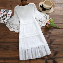 Туфли в стиле Mori Girl летние Для женщин милые вечерние платья с глубоким v-образным вырезом, Corchet элегантная женская одежда с расклешенными рукавами черный, белый цвет дамские сапоги с Кружевами Платья