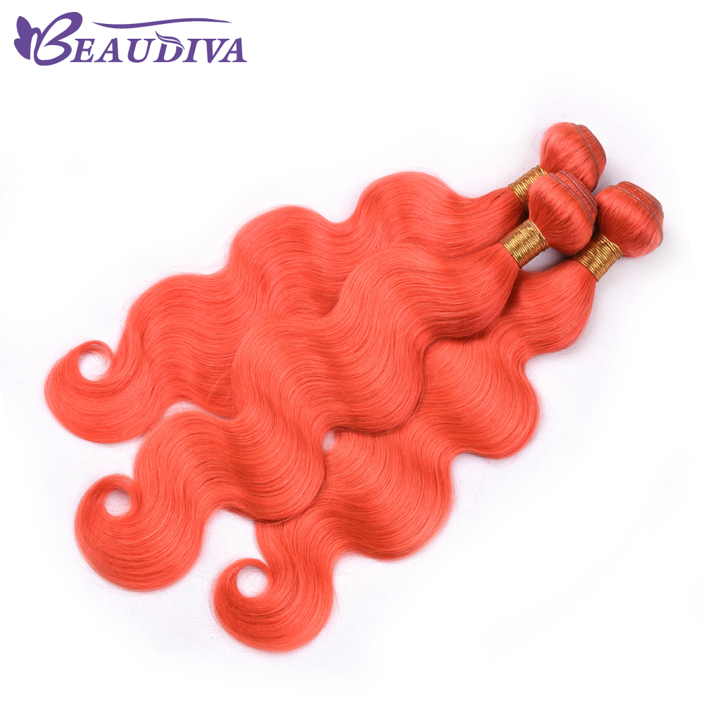 BEAU DIVA Hair 4 Bundles 10-26 Inch Vietnamese Hair 100% Human Hair Extensions Red color Vietnamese Body Wave Remy Hair Weave