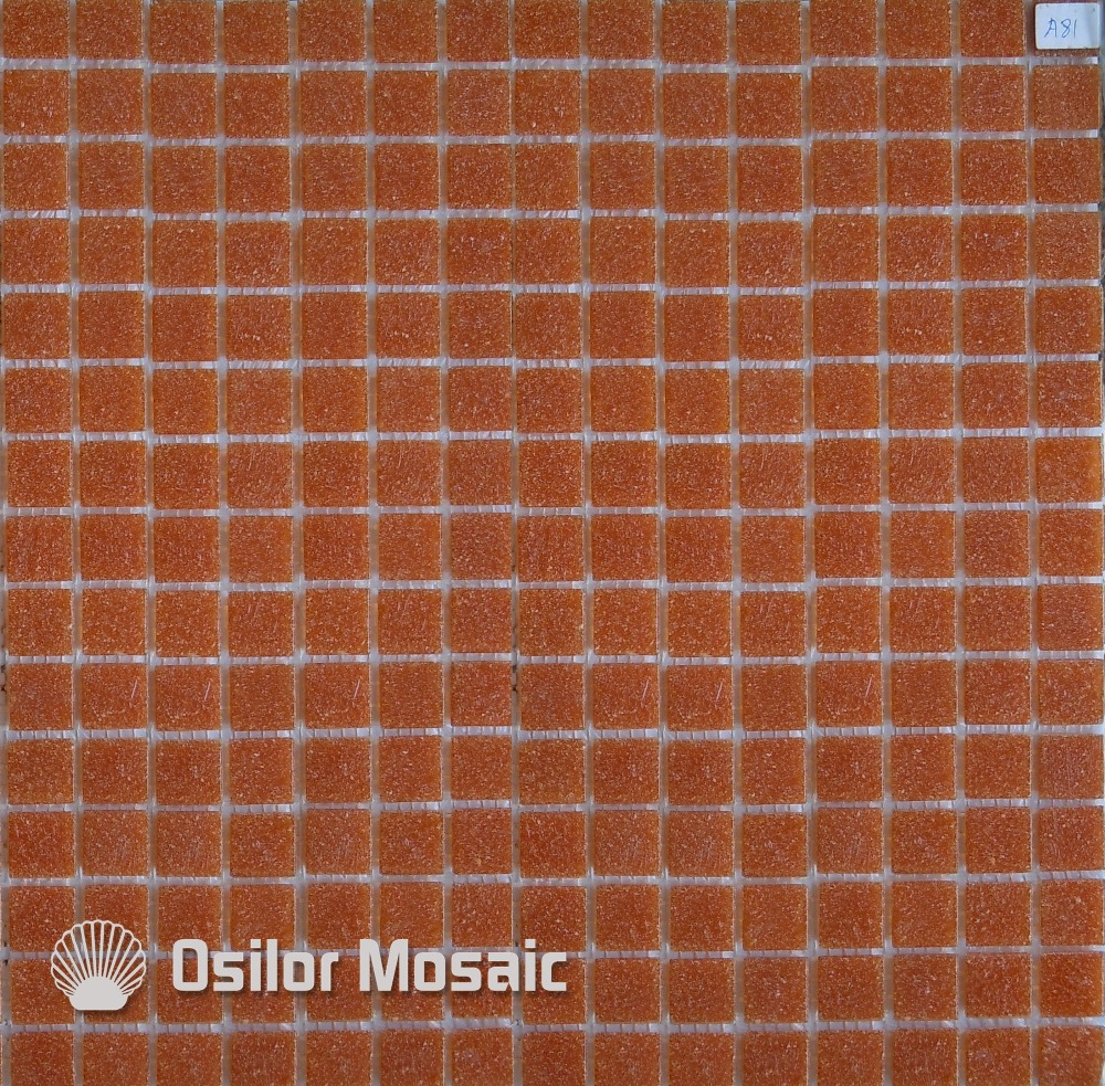 Free shipping red glass mosaic tile outdoor wall tile floor tile -in ...