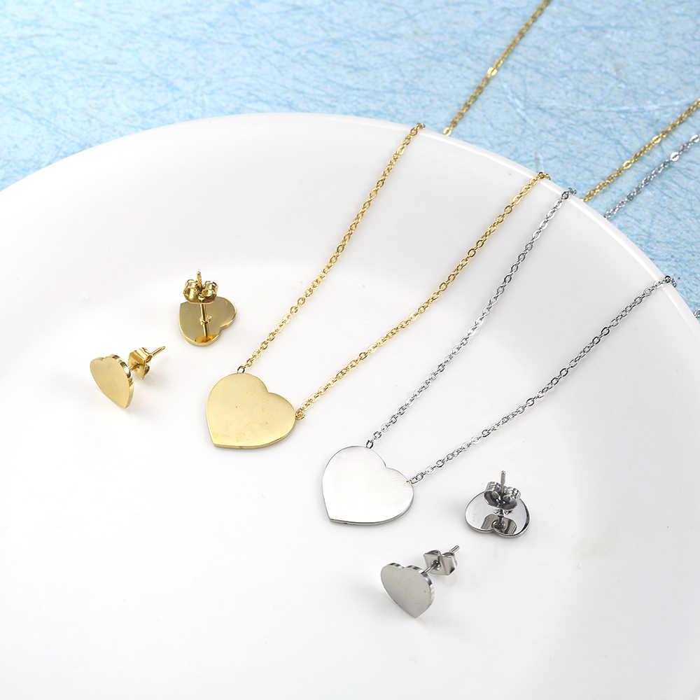 ZUUZ ювелирные аксессуары наборы ювелирных изделий Серебро Золото для женщин из нержавеющей стали ожерелье серьги набор свадебное ожерелье для невесты