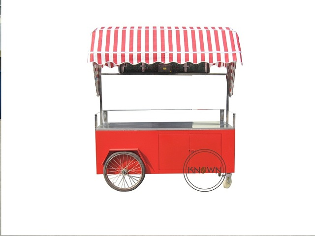Ice cream trolley/Hand push mobile food carts/trailer/ ice
