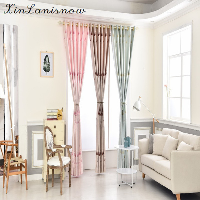 2017 nieuwe tulip silk zijde gordijnen voor living eetkamer slaapkamer