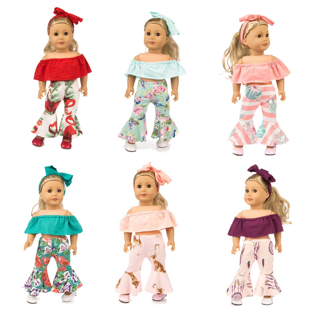 1 Set Christmas Dress Outfit For 18/'/' AG American Doll Doll Clothes Accessory