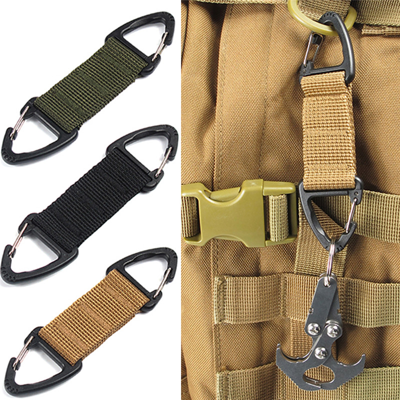 Hot! Outdoor Camping Tactical Carabiner Backpack Hooks Olecranon Molle Hook Survival Gear EDC Military Nylon Keychain ClaspHot! Outdoor Camping Tactical Carabiner Backpack Hooks Olecranon Molle Hook Survival Gear EDC Military Nylon Keychain Clasp
