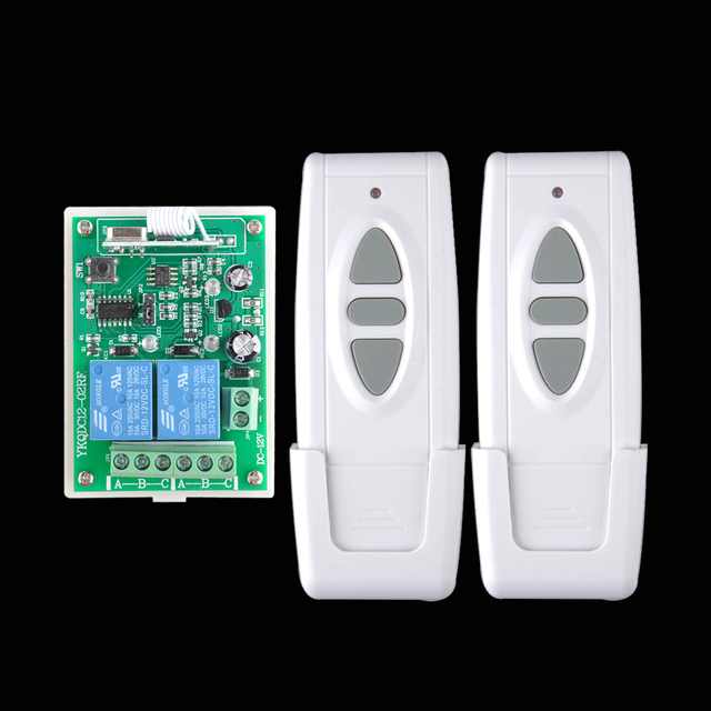 DC 12 V Wireless Motor Remote Switch Controller Forwards Reverse Up Down Stop Wall Transmitter Manual Button Limit Switch