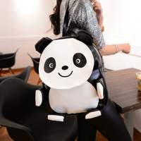 Fashion Cute Panda Teenager Girls Backpack Mochali Preppy Panda Leather Bag Elephant Backpack Women New Brand
