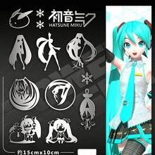 цена на Auto Sticker -Hatsune Miku 3DPersonality metal sticker- Die Cut Vinyl Decal Bumper Sticker For Windows, Cars, Trucks, Laptops