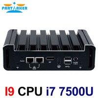 Intel Core i7 7500U Kaby Lake Mini PC Windows 10 DDR4 NUC ПК без вентилятора Графика HD 620 Wifi 3g 4G HTPC HDMI Mini DP
