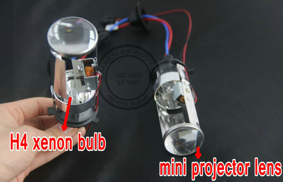Hid Headlight Bulbs >> Free shipping 2016 newest product H4 HID Bi xenon H4 H/L projector lens for car headlight with ...