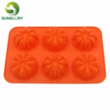 Cake Decorating Tools 6 Flowers Fondant Silicone Pan Candy Jelly Soap Decoration Mold Cupcake Baking Bakeware