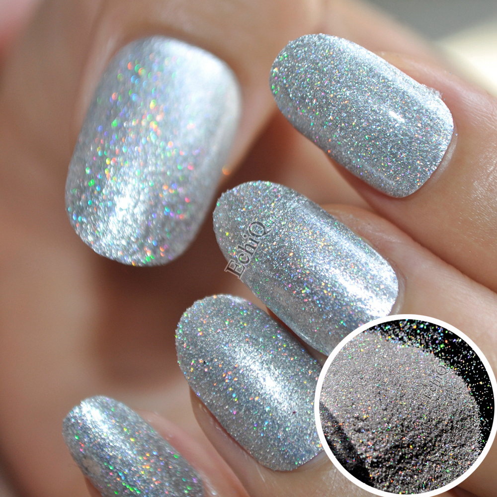 ₩1/256 Small Holographic Silver Glitter Powder Radiancy DIY Nail Art ...