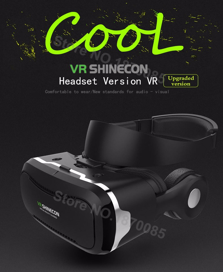 Newest VR Shinecon 4.0 Google cardboard VR BOX with Headphone VR Virtual Reality 3D Glasses PK Z4 For 4.5-6.0 inch Smartphone (1)