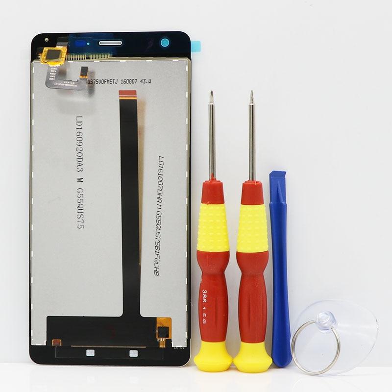 Nouveau Écran Tactile d'origine LCD Affichage LCD Écran Pour Ulefone Puissance Puissance 1 Pièces De Rechange + Démonter Outil + 3 m Adhésif