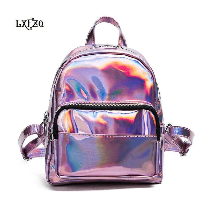 홀로그램 PVC mochila feminina bagpack 여성용 배낭 소녀 용 가방 학교 가방 십대 소녀 용 가방 백팩