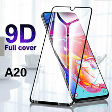 цена на XINDIMAN Glass on for samsung A20 9D tempered glass film for samsung A20 Black full screen protector for samsung galaxy A20