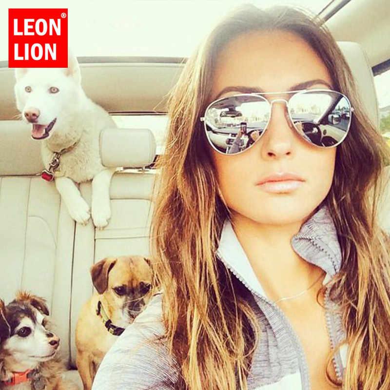 LeonLion 2018 Pilot Mirror Sunglasses Women/Men Brand Designer Luxury Sun Glasses Women Vintage Outdoor Driving Oculos De Sol