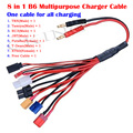 8 in 1 Lipo Battery Multi Charging Plug Convert Cable Line RC Quadcopter Car Drones Spare Parts for IMAX B6 Balance Charger