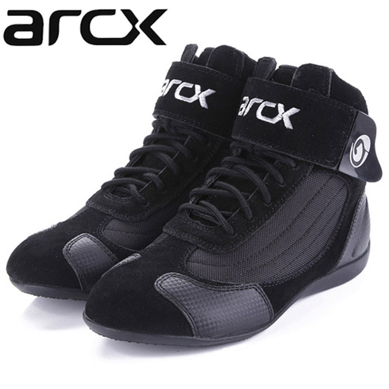 Genuine Cow Leather ARCX Motorcycle Riding Boots Motorbike Racing Boots For Harley Motos Chopper Cruiser Touring Hiking Shoes