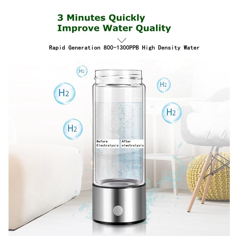 SPE PEM Membrane Bouteille D'eau Riche En Hydrogène Tasse D'eau Riche En Hydrogène D'ioniseur/Générateur DEUX Modes Antioxydants ORP Sain