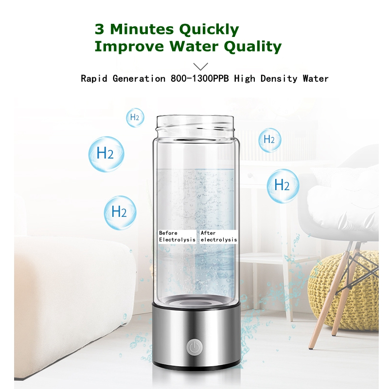 SPE PEM Membrane Hydrogen Rich Water Bottle Hydrogen Rich Water Cup Ionizer Maker/Generator TWO Modes Antioxidants ORP Healthy high quality hydrogen generator hydrogen rich water machine hydrogen generating maker water filters ionizer 2 0l pp material