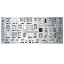 Горячая 5 шт. 50 в 1 BGA Трафареты шаблон для iPhone4 4GS 3G 3G S подготовки