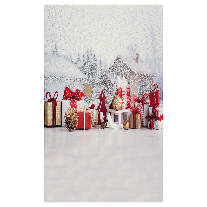 5X7FT 150X210CM Vinyl Christmas theme picture cloth photography background studio props Snowflakes, house, gift box, Christmas shengyongbao 300cm 200cm vinyl custom photography backdrops brick wall theme photo studio props photography background brw 12