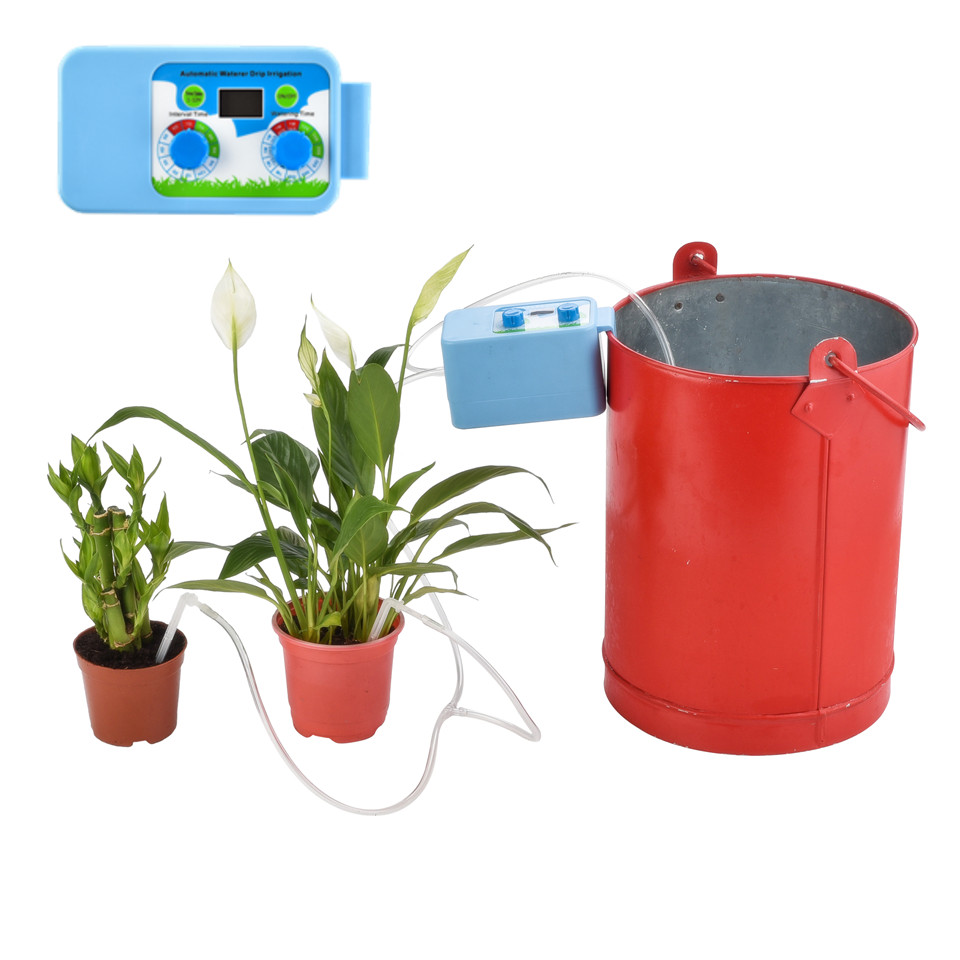 LED Convenient Micro Automatic Irrigation Set Flowers Plant Watering on