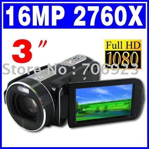 23X Optical zoom and 120X Digital zoom FULL HD 1080P 16MP digital camcorder 3 inch touch screen DV