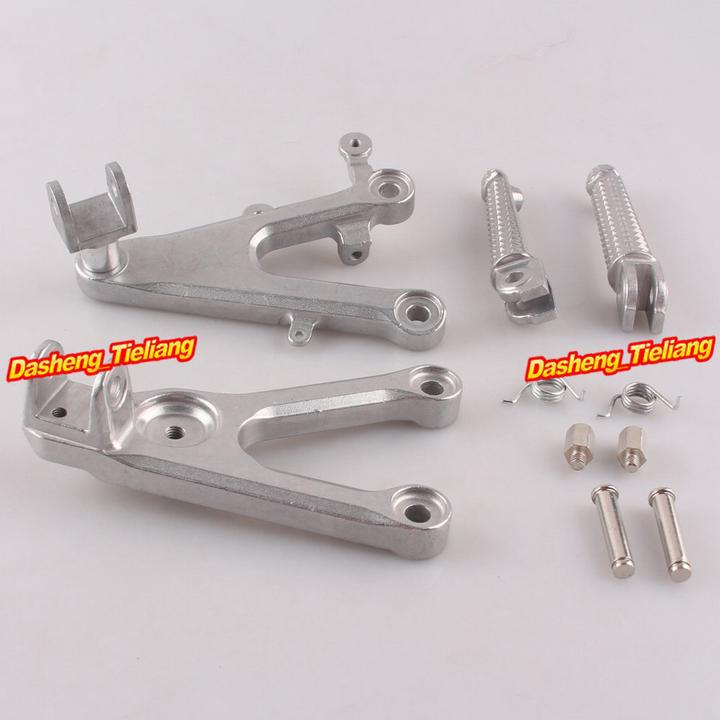 Aluminum Alloy Passenger Rear Foot Pegs Footrest Brackets for YAMAHA YZF R6 03 05 R6S 06